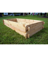 Raised Garden Planter Bed Flower Box Cedar Vege... - $119.99
