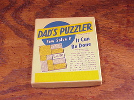 Vintage Dad's Puzzler, by J. W. Hayward, novelty puzzle - $5.95