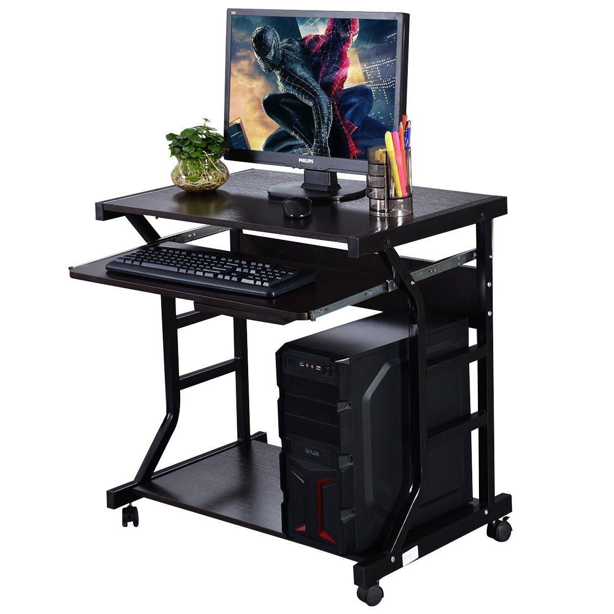 Home Office Workstation Rolling Computer Desk