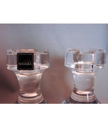 Chess Aficionado? Unique  2 Rogaska Crystal Chess Piece Candle Holders - $41.00