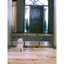 Indoor Pet Gate Dog Fence Expandable Free Stand... - $69.23