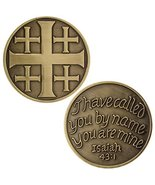 Jerusalem Cross Coin - You Are Mine Isaiah 43:1, Set of 4 Coins - ₹750.84 INR