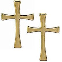 Gold Plated Maltese Cross Lapel Pins (3) Christian - $8.80