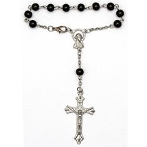 Car Auto Rosary Black Beads Set of 6 for Gifts - $15.66