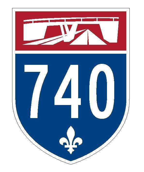 Quebec Autoroute 740 Sticker Decal R4845 Canada Highway Route Sign Canadian