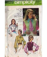 1973 BLOUSE Pattern 9829-s Size 10 - complete - $9.99