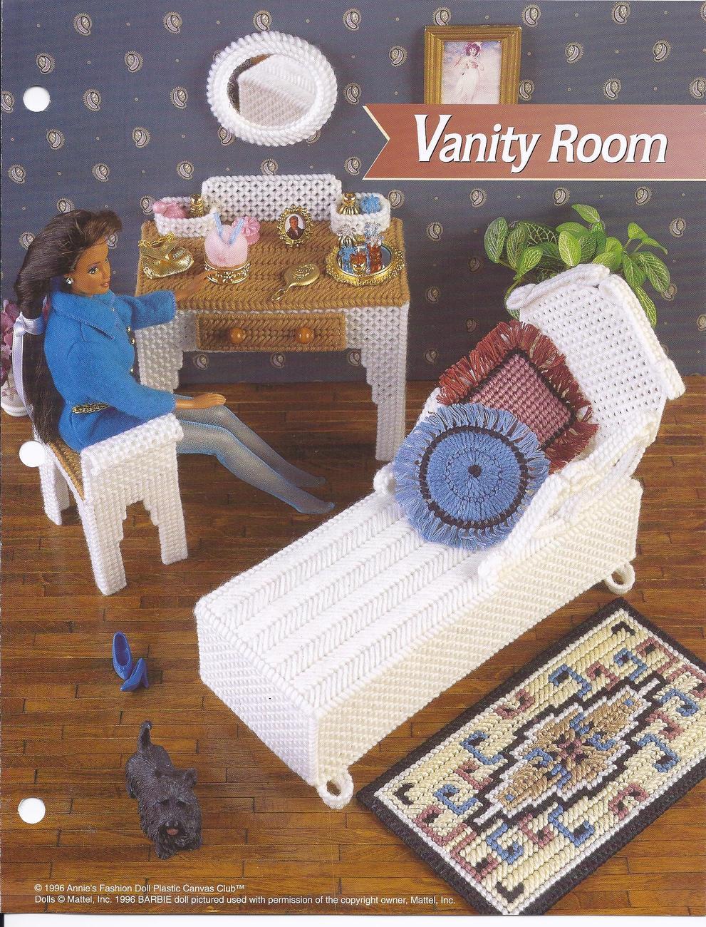 Plastic canvas fashion doll furniture patterns 68