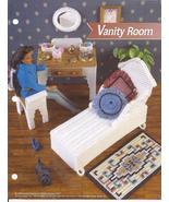 Vanity Room Fashion Doll Plastic Canvas Pattern~Annie's~1996 - $8.99