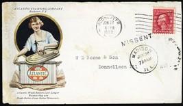 Multicolor Atlantic Stamping Machine 1922 Advertising Cover - Stuart Katz - $75.00
