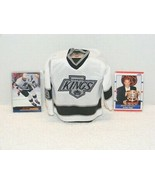 WAYNE GRETZKY # 99 LA KINGS MINI JERSEY & (2) TRADING CARDS GUC - $34.99