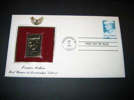 1980 FRANCES PERKINS PRESIDENTIAL CABINET 22kt Gold GOLDEN Cover replica... - $7.91