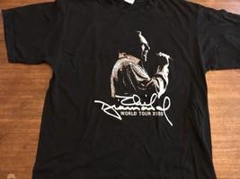 Neil Diamond Black L Concert T-Shirt L 2005 World Tour Mint Dates - $16.63
