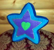 Plush Blue Green Lavender Love My Shining Star Decorative Accent Pillow - £3.71 GBP