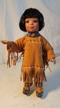 Porcelain Indian Boy Doll 13 inches tall Very well made - $10.00