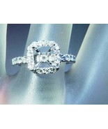 Cushion Diamond Engagement Halo Ring Semi Mount... - $988.88