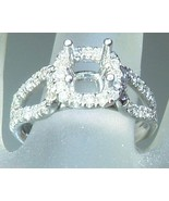 5mm Cushion 0.59ct Diamond Halo Semi Mount Enga... - $1,188.88