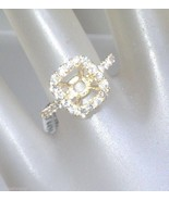 Cushion Diamond Halo Semi Mount Engagement Ring... - $1,288.88