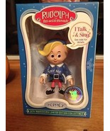 Rudolph Red Nosed Reindeer Talking Hermey 50th Anniversary Limited Editi... - $22.99