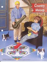 Country Melody Fashion Doll Plastic Canvas Pattern~Annie's~1996 - $3.99