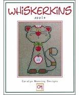 Apple Whiskerins cat cross stitch chart CM Designs - $7.20