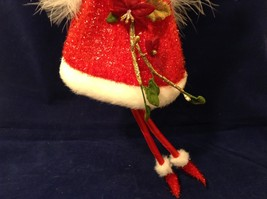 """American Silkflower Collection Red Skirt and Hat Hanging Angel Ornament 12"""" image 5"""