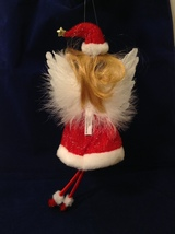 """American Silkflower Collection Red Skirt and Hat Hanging Angel Ornament 12"""" image 6"""