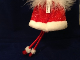 """American Silkflower Collection Red Skirt and Hat Hanging Angel Ornament 12"""" image 9"""