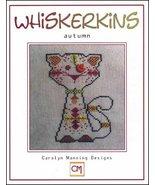 Autumn Whiskerins cat cross stitch chart CM Designs - $7.20