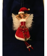 """American Silkflower Collection Red Skirt and Hat Hanging Angel Ornament 12"""" - $34.99"""