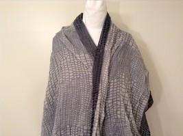 Black-Gray Geometric Scarf / Shawl 100% Polyester by Magic Scarf Company image 3