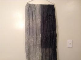 Black-Gray Geometric Scarf / Shawl 100% Polyester by Magic Scarf Company image 5