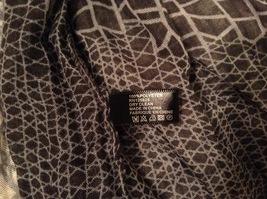 Black-Gray Geometric Scarf / Shawl 100% Polyester by Magic Scarf Company image 6