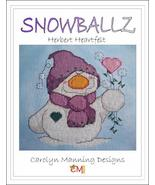 Snowballz Herbert Heartfelt cross stitch chart CM Designs  - $7.20