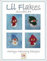Lil Snowflakes #4 snowman cross stitch chart CM Designs - $9.00