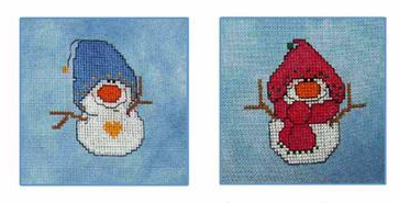 Lil Snowflakes #4 snowman cross stitch chart CM Designs