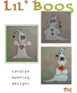 Lil Boos ghost halloween cross stitch chart CM Designs - $9.00