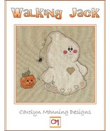Walking Jack ghost halloween cross stitch chart CM Designs - $7.20
