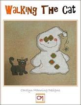 Walking The Cat ghost halloween cross stitch chart CM Designs - $7.20