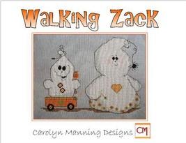 Walking Zack ghost halloween cross stitch chart CM Designs - $7.20