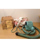 Vintage Lady Sunbeam Controlled Heat Hair Dryer with Plastic Hat Old Fas... - $34.99
