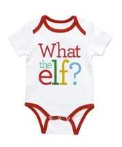 What the Elf?  NEW baby One piece 0 to 3  months