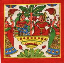 Phad Rajasthan Miniature Art Handmade Indian Folk Maharajah Scroll Painting - $74.98