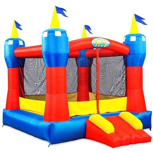 Inflatable Bounce House Castle with Slide Kids Bouncer Commercial Vinyl Floor