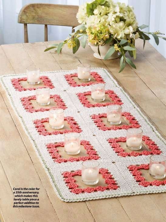 Primary image for Y820 Crochet PATTERN ONLY Coral Gardens Table Runner Pattern