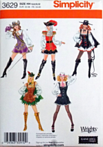 S3629 Misses' Rodeo Queen Pirate Gangster Robin Hood Costumes Pattern 14-20 - $9.99