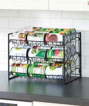 Durable Steel Wire 3 Tier Can Storage Rack Spac... - $14.82