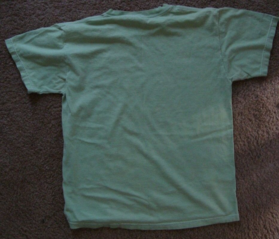 "AMERICAN RAG Cie ""Rock Paper Scissors"" green T-Shirt    sz.M"