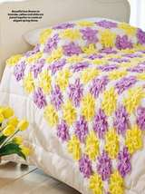 Y825 Crochet PATTERN ONLY Pretty Posies Throw Afghan Pattern - $7.50