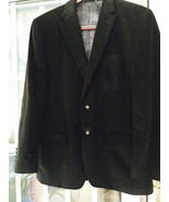 Ralph Lauren Black Corduroy Jacket With Suede Elbow Patches Regular 41 B... - $59.39