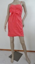 New Pretty Good Anthropologie Linen Summet Day Dress Sz S Small Coral Pi... - $21.73